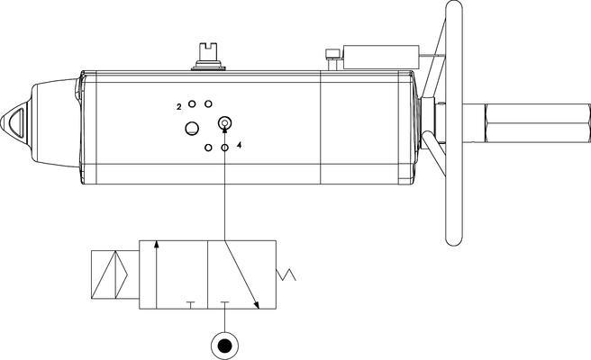 Einfachwirkender pneumatischer Stellantrieb GSV mit integrierter Handsteuerung - merkmale -