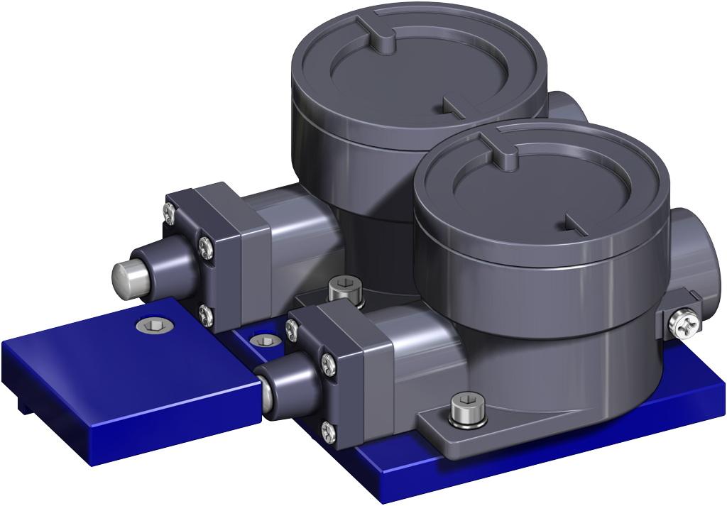 Einfachwirkender pneumatischer Stellantrieb GS 40 PSI ÷ 2,8 bar - zubehör - EXPLOSIONSSICHERE ENDSCHALTER II2GD ExdIIC