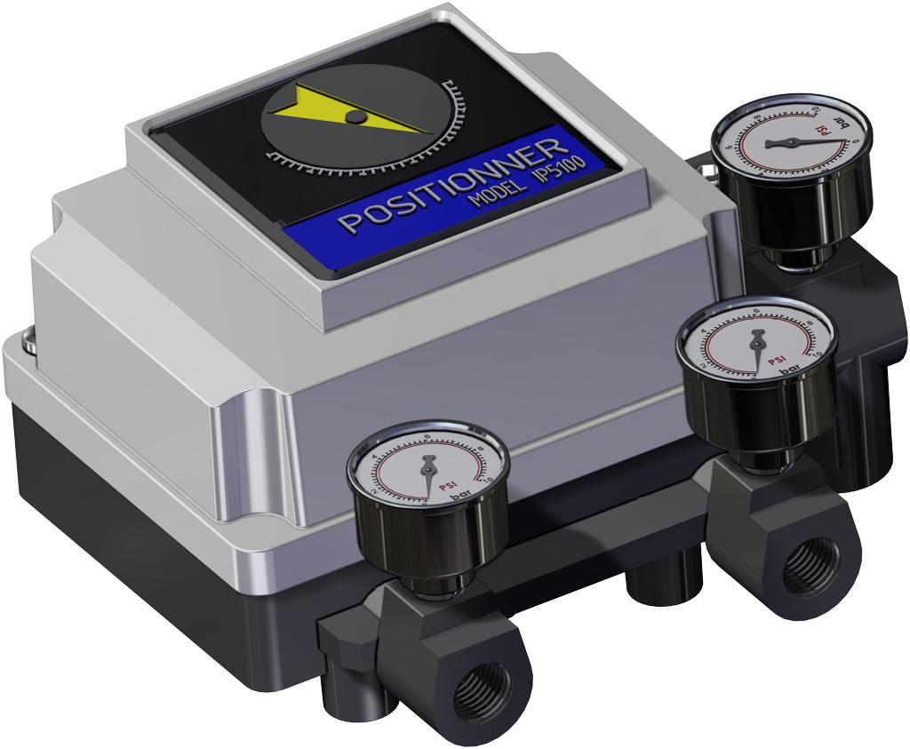Einfachwirkender pneumatischer Stellantrieb GS 40 PSI ÷ 2,8 bar - zubehör - PNEUMATISCHER STELLUNGSREGLER